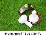 outdoor spa massage setting | Shutterstock . vector #501458443