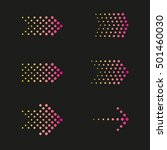 set of arrows dots  halftone | Shutterstock .eps vector #501460030