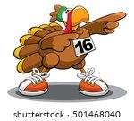 turkey trot 16 | Shutterstock .eps vector #501468040
