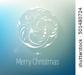christmas greeting card light... | Shutterstock .eps vector #501480724