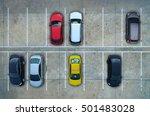 empty parking lots  aerial view. | Shutterstock . vector #501483028