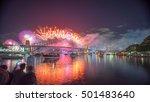 sydney new year eve fireworks... | Shutterstock . vector #501483640