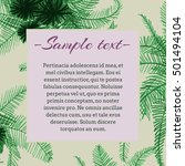 frame for text with colored... | Shutterstock . vector #501494104