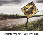 Rusty Sign On An Oklahoma Road