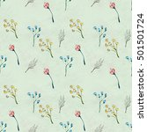 seamless pattern with colorful... | Shutterstock . vector #501501724