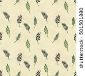 seamless pattern with leaves   Shutterstock . vector #501501880