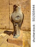 statue of horus at the entrance ... | Shutterstock . vector #501505444
