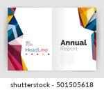 business triangle design modern ... | Shutterstock .eps vector #501505618