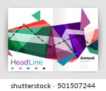 unusual abstract corporate... | Shutterstock .eps vector #501507244