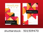 business company profile... | Shutterstock .eps vector #501509470