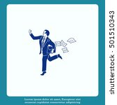 running businessman. the... | Shutterstock .eps vector #501510343