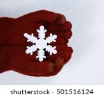 close up of hands in red gloves ... | Shutterstock . vector #501516124