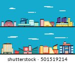 city landscape. clouds in the... | Shutterstock .eps vector #501519214