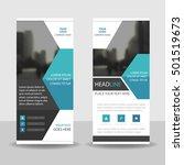 blue hexagon business roll up... | Shutterstock .eps vector #501519673