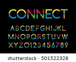 vector of modern colorful font... | Shutterstock .eps vector #501522328