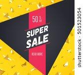 super sale  50  off  modern... | Shutterstock .eps vector #501523054