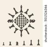 Chess Piece. Icon Set. Logo