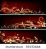 three red banners with gold... | Shutterstock .eps vector #50152666
