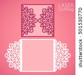laser cut wedding invitation... | Shutterstock .eps vector #501530770