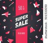 super sale  50  off  modern... | Shutterstock .eps vector #501533050