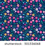 seamless pattern with flowers... | Shutterstock .eps vector #501536068