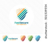 shield security logo design... | Shutterstock .eps vector #501539554