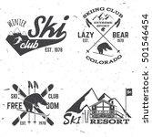 ski club concept. vector ski... | Shutterstock .eps vector #501546454