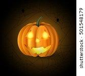 scary jack o lantern halloween... | Shutterstock .eps vector #501548179