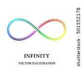 rainbow spiral like infinity... | Shutterstock .eps vector #501552178