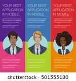 vector colorful banner with... | Shutterstock .eps vector #501555130