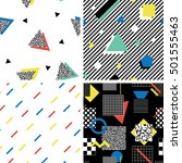 retro 80s and 90s style vector... | Shutterstock .eps vector #501555463