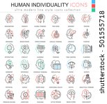 vector human personality and... | Shutterstock .eps vector #501555718