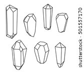 set of geometric crystals.... | Shutterstock .eps vector #501557170