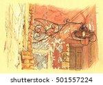 Old Cretan Lantern. Hand...