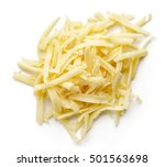 Heap Of Grated Cheese Isolated...