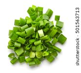Heap Of Chopped Spring Onions...