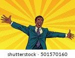 happy african american...   Shutterstock .eps vector #501570160