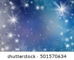 white snowflakes on a blue... | Shutterstock . vector #501570634