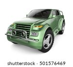 suv green brandless concept car ... | Shutterstock . vector #501576469