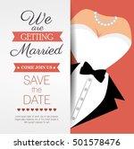 wedding invitation card icon | Shutterstock .eps vector #501578476
