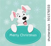 merry christmas card. adorable... | Shutterstock .eps vector #501578533