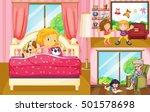 kids doing different activities ... | Shutterstock .eps vector #501578698
