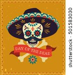 dia de los muertos. day of the... | Shutterstock .eps vector #501583030