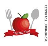 fresh fruit menu healthy food | Shutterstock .eps vector #501583186