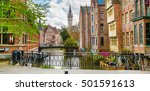 Downtown Of Ghent With Canal ...