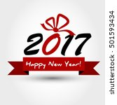 new year 2017 concept with big... | Shutterstock .eps vector #501593434