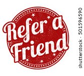 refer a friend grunge rubber... | Shutterstock .eps vector #501596590
