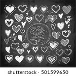 collection of doodle sketch... | Shutterstock .eps vector #501599650