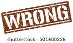wrong. grunge vintage wrong... | Shutterstock .eps vector #501600328