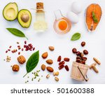 selection food sources of omega ... | Shutterstock . vector #501600388